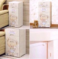 tủ gấu, tủ đựng đồ hình gấu 5 tầng dành cho mẹ & bé ( tủ có khóa )