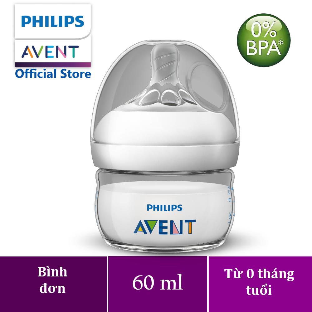 Bình sữa bằng nhựa Philips Avent không có BPA 60ml – đơn (SCF039/17)