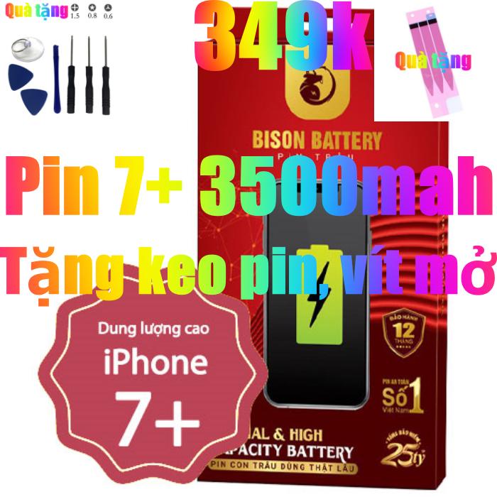 Pin iPhone 7 Plus dung lượng cao 3500mAh BISON chính hãng