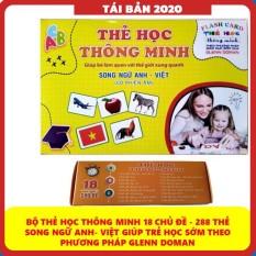[XẢ KHO] Bộ Thẻ Học Thông Minh 18 Chủ Đề loại to song ngữ tiếng Anh loại chuẩn Glenn Doman Flashcard cho bé từ 0-6 tuổi