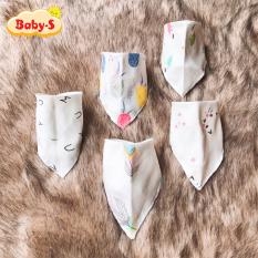 Yếm xô tam giác 4 lớp xuất Nhật cho bé yêu cúc bấm 2 nấc tiện lợi đủ họa tiết ngộ nghĩnh thay đổi mỗi ngày Baby-S – SSS008
