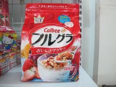 Ngũ cốc Calbee trái cây sấy khô hsd tháng 04/2020 nội địa Nhật