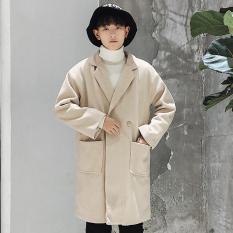 Áo khoác dạ nam, áo mangto nam thời trang -AKD02