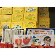 [Dự kiến giao 20/8] Thẻ học thông minh 16 chủ đề 416 thẻ – Flash card song ngữ Anh Việt học về thế giới xung quanh cho bé từ 6 tháng đến 6 tuổi – Smart Baby