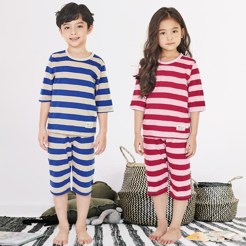 Bộ đồ lửng Unifriend Hàn Quốc Uni2105 cho bé gái, bé trai 1-10 tuổi, vải cotton organic Korea-Chính hãng