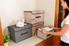 Bộ 2 thùng vải đựng đồ đa năng mang phong cách Nhật