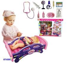 Đồ chơi trẻ em an toàn chính hãng 100% Đồ chơi búp bê bác sỹ thông minh KT4300C