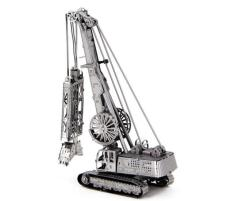Mô hình kim loại lắp ghép lắp ráp trang trí trưng bày 3D bằng thép không gỉ máy cẩu hạng nặng bánh xích (tặng dụng cụ lắp ghép khi mua 2 bộ bất kì)