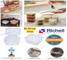 Richell (Nhật) – Bộ 08 hộp chia thức ăn dặm hình thú 100ml (Chất lượng và tiết kiệm so với các thương hiệu: Unimom, Upass, Nakaya, Inomata, Skater, Akebono, Kokubo, Yamada, Akachan,…)