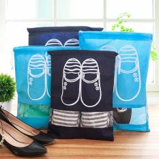 Combo 10 túi đựng giày dép có dây rút, du lịch, bảo quản giày, phụ kiện giày, Huy Linh