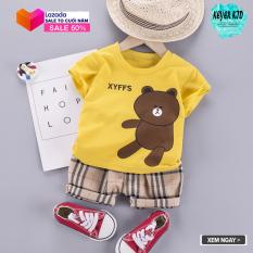 [ SALE TẾT] Bộ Quần Áo Trẻ Em 6 -22kg, Đồ Bộ Bé Trai Mặc Tết, Họa Tiết Hình Gấu in 3D, Vải Cotton, Siêu Mát, Co giãn, Thấm Hút Tốt, KEYER KID VN SZ81