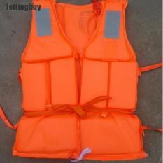 Jettingbuy Orange Phòng Chống Hữu Ích Lũ Lụt Người Lớn Bọt Bơi Áo Phao + Còi