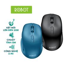 Chuột Không Dây ROBOT M320 2.4GHz chuột tỉnh âm click không nghe tiếng khoảng cách tín hiệu 20m – HÀNG CHÍNH HÃNG