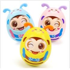 Đồ chơi trẻ em – Lật đật cho bé kèm gặm nướu tạo âm thanh vui tai, chất liệu an toàn, nhiều màu – Đồ chơi phát triển trẻ nhỏ Kagonk