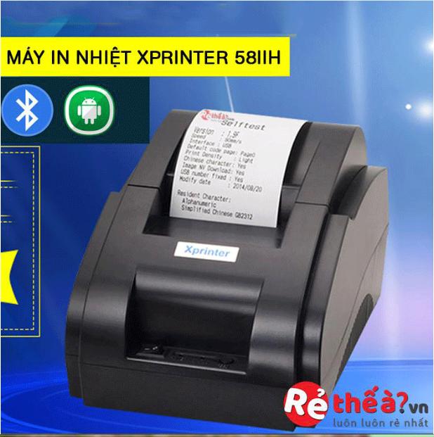 Máy in hóa đơn XPRINTER 58IIH – Hỗ trợ cài đặt- luôn tặng free 3 cuộn giây in