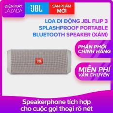 Loa di động JBL Flip 3 Splashproof Portable Bluetooth Speaker (Xám) – Hãng phân phối chính thức