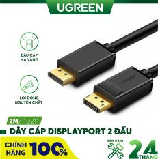 Dây cáp DisplayPort 2 đầu đực tốc độ 21.6Gbps dài 1-5M UGREEN DP102 – Hãng phân phối chính thức