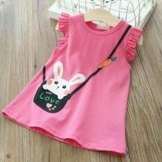 [Sale Sốc] Đầm Suông Chữ A Thỏ Cà Rốt Cho Bé 8-19kg SHOP.BEECOW