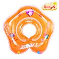 [HCM]Phao đỡ cổ cho trẻ sơ sinh dưới 2 tuổi chất nhựa PVC 2 lớp mềm mại dày dặn thiết kế chống lật an toàn cho bé yêu tung tăng bơi lội Baby-S – SPB002
