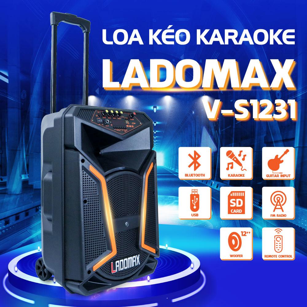Loa kéo V-S1231 Loa thùng kéo Karaoke Chất lượng cao cấp Âm thanh chân thật Hàng Chính hãng BH 1...