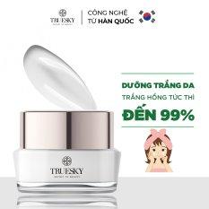 [HCM]Kem dưỡng trắng da mặt Truesky thu nhỏ lỗ chân lông làm da trắng mịn cải thiện tính đàn hồi cho da Whitening Face Cream 15g