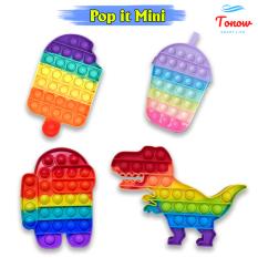 Pop it mini hình Among Us, Trà Sữa, Khủng Long, Que Kem – Đồ chơi bop it mới nhất 2021 Tonow