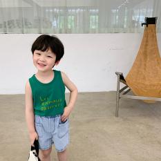 Áo ba lỗ sát nách cho bé trai 1 – 5 tuổi QATE H11 chất cotton Soomin Kids 8 đến 22 kg