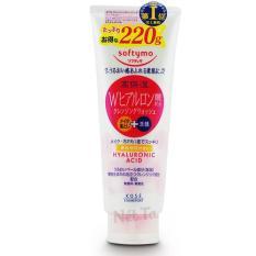Sữa rửa mặt Softymo Hyaluronic Acid Nhật Bản 220G