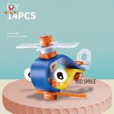 Đồ chơi xếp hình nhựa dẻo BUILD PLAY 12 đến 18 chi tiết phát triển trí thông minh và tư duy logic cho bé từ 3 tuổi trở lên