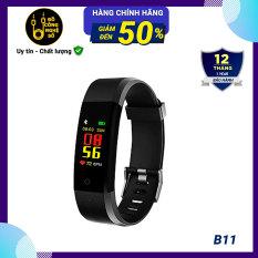 [Nhập ELJAN11 giảm 10%, tối đa 200k, đơn từ 99k][Nhập mã EXCLUSIVE giảm 10%] Vòng tay thông minh theo dõi sức khỏe Smart Bracelet B11 Version 2