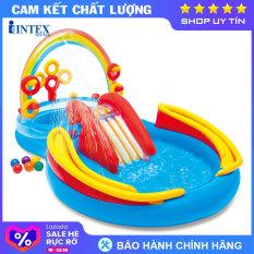 Bể bơi phao có cầu trượt INTEX 57453 – Hồ bơi cho bé mini, Bể bơi phao trẻ em