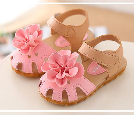Giày sandal bé gái da Pu đế cao cấp 2 lớp chống trơn trượt.
