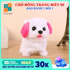 [FREE SHIP] Đồ chơi chó bông biết đi, vẫy đuôi, kêu bi bi dễ thương cho bé – Niki Store