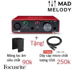 Focusrite Scarlett Solo USB Audio Interface (3rd Gen) [soundcard thu âm/kiểm âm Solo Gen 3, thế hệ 3, NEW]