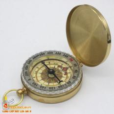 La bàn bỏ túi Compass vỏ kim loại – La bàn có dạ quang và chống nước