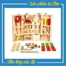 Đồ chơi bộ dụng cụ kỹ thuật sửa chữa bằng gỗ-Chôm Kids