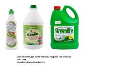 combo nước giặt, nước rửa bát greenlife tặng kèm nước rửa chén 450ml