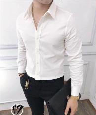 Áo sơ mi nam dài tay vải lụa mềm mịn cao cấp kiểu dáng Hàn Quốc