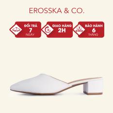 Sục cao gót bít mũi thời trang Erosska kiểu dáng Hàn Quốc cao 3cm màu nude – EM076