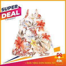 Váy 2 dây in họa tiết hoa lá bé gái vải 100% cotton xuất ngoại dư – Màu & mẫu ngẫu nhiên size 8-19kg