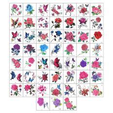52 tờ hình xăm dán chủ đề hoa tatoo tha thu nhiều mẫu