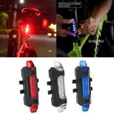 Đèn LED cảnh báo an toàn sau xe đạp chống nước có pin lithium sạc bằng cáp USB
