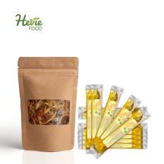 Combo Chanh Sả sấy lạnh 50G HeVieFood và 10 túi Mật ong hoa nhãn nguyên chất 20G HeVieFood