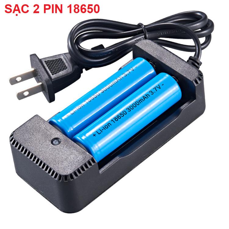 Bộ sạc pin 3,7V đa năng sạc pin 18650, 26650 22650 Sạc nhanh sử dụng nguồn 100v – 240v