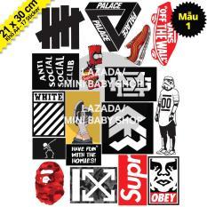 Bộ Hình Dán Sticker Hypebeast, Bape, Supreme, Off White, 5theway – Hình Dán Mũ Bảo Hiểm, Hình Dán Laptop, Hình Dán Điện Thoại, Sticker Dán Xe