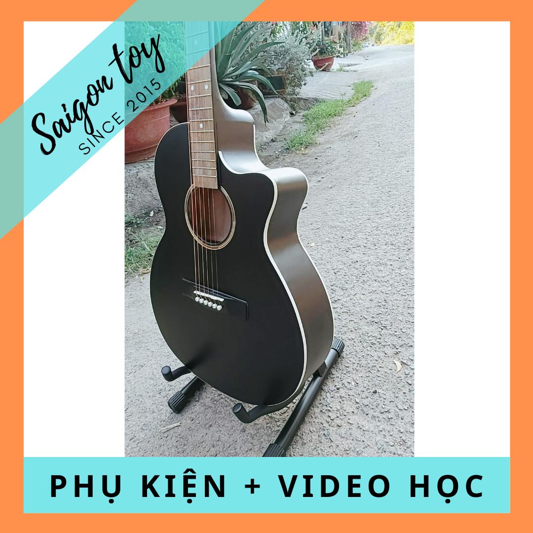 Đàn Guitar Acoustic SGT.EQ lắp EQ kết nối loa TẶNG KÈM PHỤ KIỆN chất liệu mặt trước gỗ ép cao cấp, bấm nhẹ, không gây đau tay