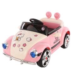 Ô tô điện cho bé gái HELLO KITTY có điều khiển từ xa, 2 chế độ tự lái và điểu khiển – DH STORE