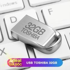 USB 32GB Toshiba siêu nhỏ chống nước màu Bạc – Bảo hành 5 năm – hàng FPT