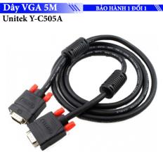 Cáp màn hình PC – Dây VGA 2 đầu Unitek Y-C505A – dài 5M – cho máy chiếu, màn hình LCD