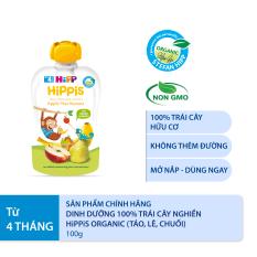 Thức ăn dặm Dinh dưỡng 100% trái cây nghiền hữu cơ HiPPiS Organic (Táo, lê, chuối) 100g